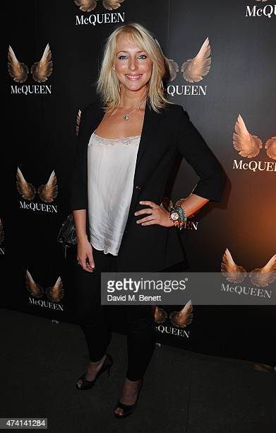 Ali Bastian attends the press night performance of 'McQueen' at the St James Theatre on May 20 2015 in London England