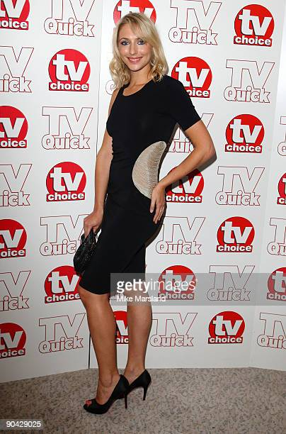 Ali Bastian attends the TV Quick Tv Choice Awards at The Dorchester on September 7 2009 in London England