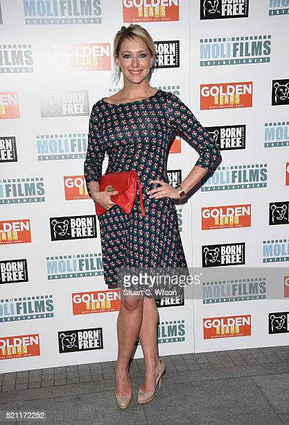 Ali Bastian attends the UK film premiere of 'Golden Years' at the Odeon Tottenham Court Road on April 14 2016 in London England