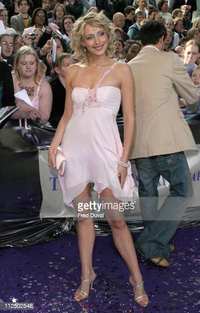Ali Bastian during 2005 British Soap Awards Arrivals at BBC Television Centre in London Great Britain