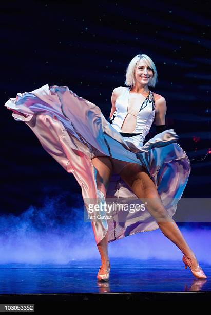 Ali Bastian performs during photocall for their upcoming dance show 'Burn The Floor' at Shaftesbury Theatre on July 23 2010 in London England