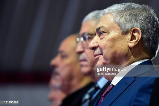 Ali Benflis arrives for a press conference in the capital Algiers on November 10 2019 Five candidates including two former prime ministers under...