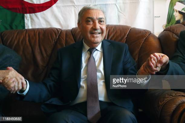 Ali Benflis, former Prime Minister and presidential candidate, during his election campaign in the city of Blida, 45 km southwest of Algiers, 19...
