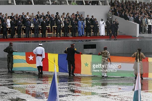 Ali Bongo Ondimba Boni Yayi Faure Gnassingbe Abdoulaye Wade Idriss Deby Itno Paul Biya Nicolas Sarkozy Blaise Compaore Francois Fillon Sassou Nguesso...