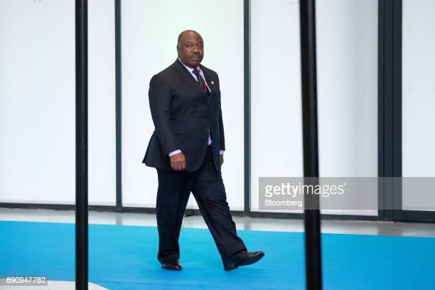 Ali Bongo Ondimba Gabon's president arrives at the One Planet Summit in Paris France on Tuesday Dec 12 2017 French President Emmanuel Macron hosts at...