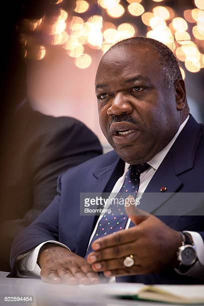 Ali Bongo Ondimba Gabon's president speaks during an interview in New York US on Wednesday April 20 2016 Gabon will hold presidential elections in...
