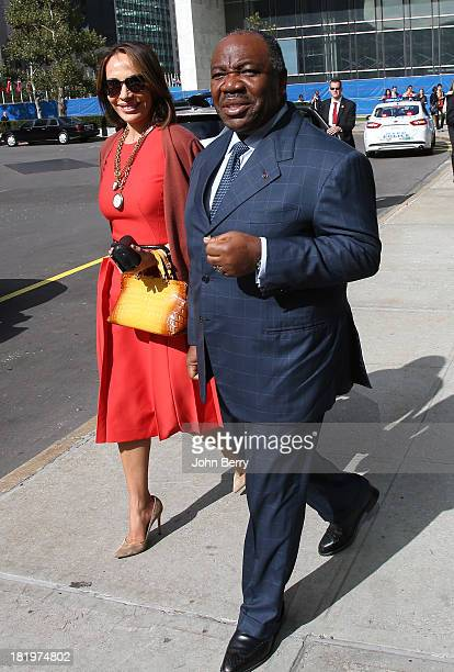 Ali Bongo Ondimba President of Gabon and his wife Sylvia Bongo Ondimba attend the 68th session of the United Nations General Assembly on September 26...