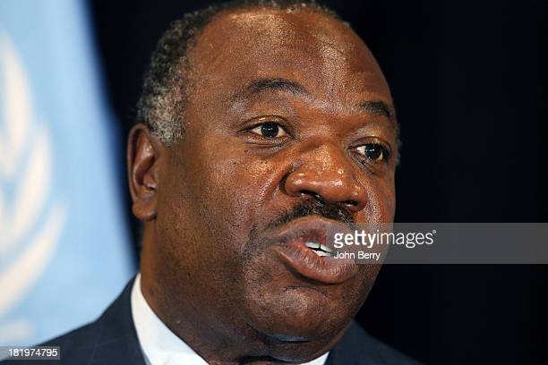 Ali Bongo Ondimba President of Gabon attends the 68th session of the United Nations General Assembly on September 26 2013 in New York City