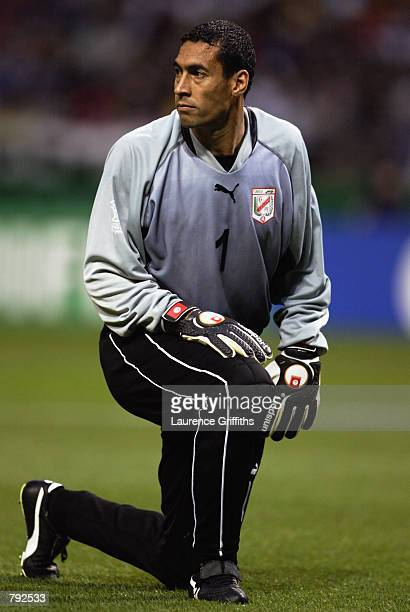 Ali Boumnijel of Tunisia during the FIFA World Cup Finals 2002 Group H match between Belgium and Tunisia played at the Oita Big Eye Stadium in Oita...
