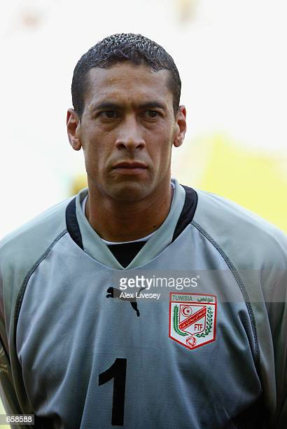 Ali Boumnijel of Tunisia during the Russia v Tunisia Group H World Cup Group Stage match played at the Kobe Wing Stadium Kobe Japan on June 5 2002...