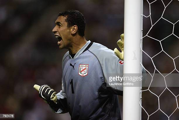 Ali Boumnijel of Tunisia in action during the FIFA World Cup Finals 2002 Group H match between Belgium and Tunisia played at the Oita Big Eye Stadium...