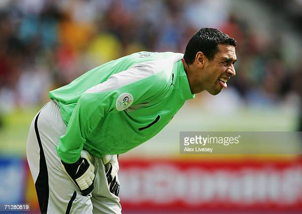 Ali Boumnijel of Tunisia looks upfield during the FIFA World Cup Germany 2006 Group H match between Ukraine and Tunisia played at the Olympic Stadium...