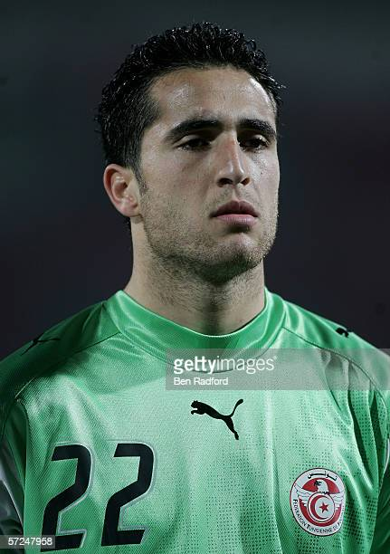Ali Boumnijel of Tunisia prior to The African Cup of Nations Group C match between Tunisia and Guinea at The Haras El Hedod Stadium on January 30...