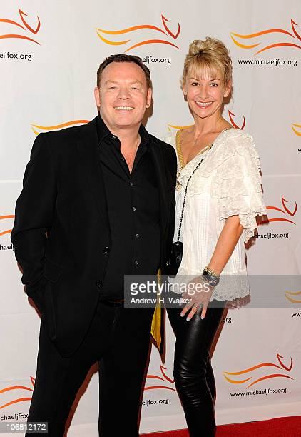 Ali Campbell and guest attend the Michael J Fox Foundation's 2010 Benefit 'A Funny Thing Happened on the Way to Cure Parkinson's' at The...