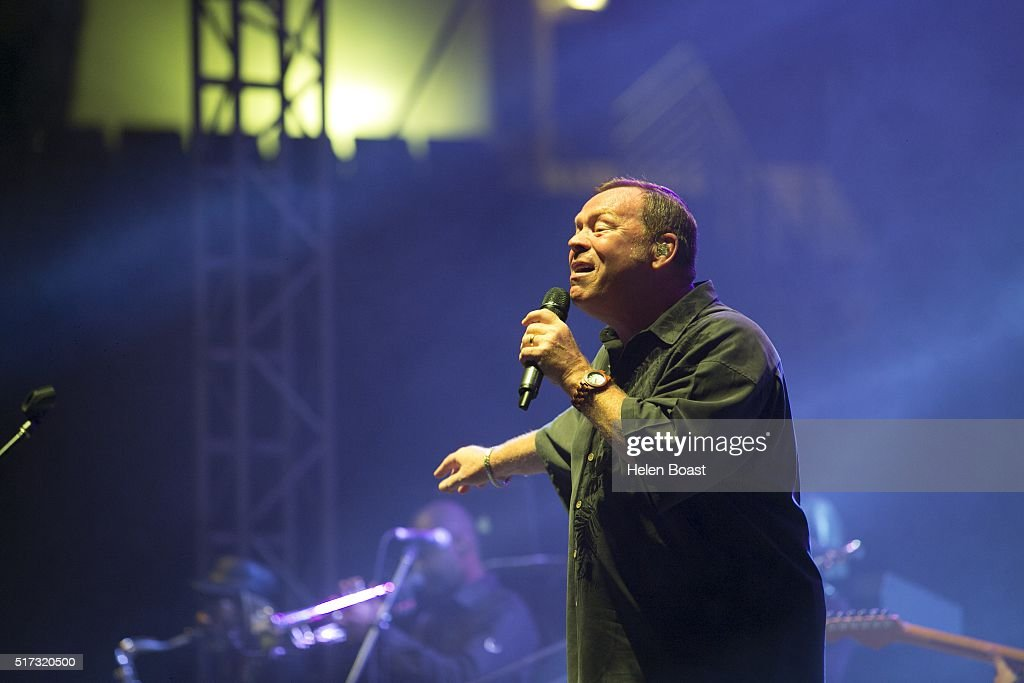 Ali Campbell of UB40 performs at Irish Village on March 24, 2016 in Dubai, United Arab Emirates.