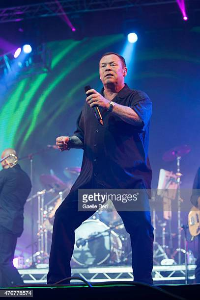 Ali Campbell of UB40 performs at Seaclose Park on June 11 2015 in Newport United Kingdom