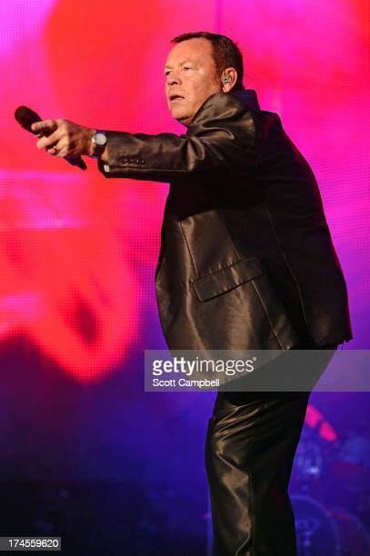 Ali Campbell of UB40 performs on stage on Day 2 of Rewind 80s Festival 2013 at Scone Palace on July 27 2013 in Perth Scotland