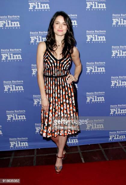 Ali Cobrin attends the 33rd annual Santa Barbara International Film Festival American Riviera Award presentation at Arlington Theatre on February 7...