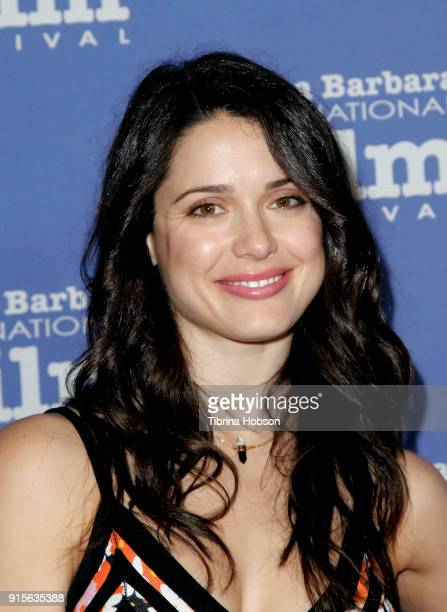 Ali Cobrin attends the 33rd annual Santa Barbara International Film Festival American Riviera Award presentation at Arlington Theatre on February 7...
