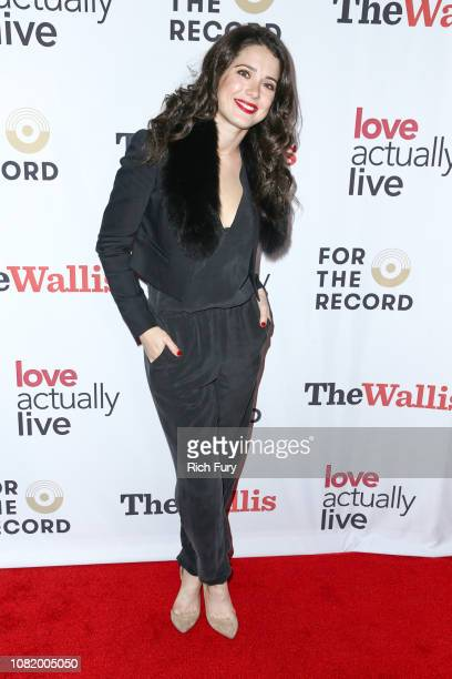 Ali Cobrin attends the 'Love Actually Live' opening night reception at Wallis Annenberg Center for the Performing Arts on December 12 2018 in Beverly...