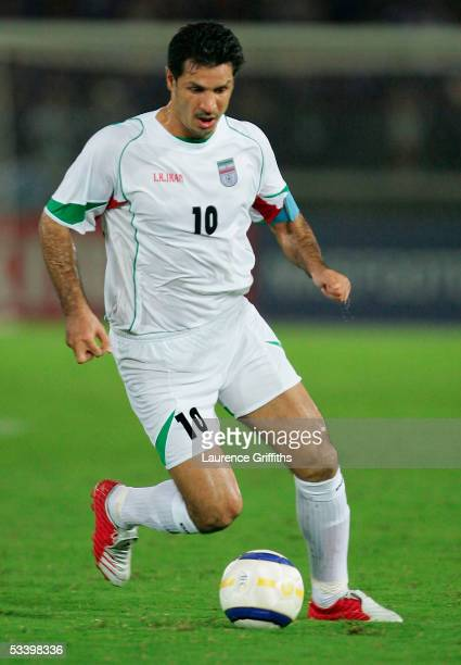 Ali Daei of Iran during The 2006 Fifa World Cup Asian Qualifiers match between Japan and Iran at The International Stadium on August 17 2005 in...