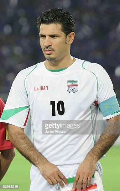Ali Daei of Iran during the 2006 FIFA World Cup Asian Qualifiers match between Japan and Iran at The International Stadium Yokohama on August 17 2005...