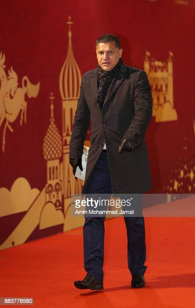 Ali Daie Iranian former player arrives prior to the Final Draw for the 2018 FIFA World Cup Russia at the State Kremlin Palace on December 1 2017 in...