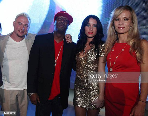 Ali Dee Grandmaster Flash singer Rae and Alice Bennahmias attend DJ Cassidy's 30th birthday celebration and the one year anniversary of Hennessy...