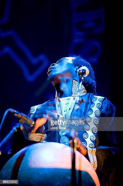 Ali Diarra performs on stage at Teatre Zorrilla on April 17 2010 in Badalona Spain