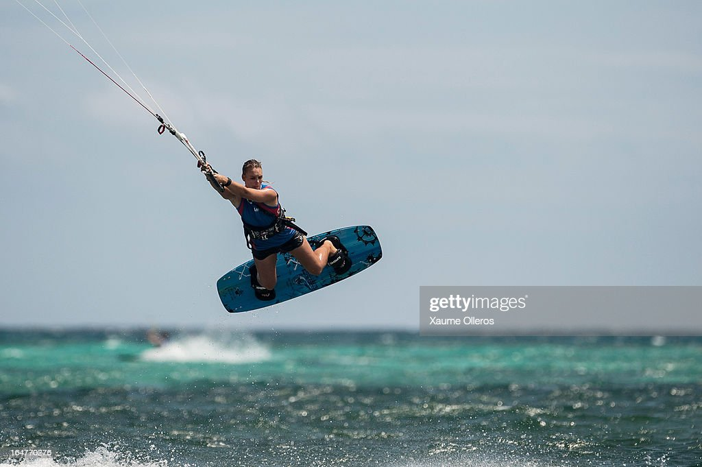 Ali Dudfield of Australia competes on freestyle during day two of the KTA at Boracay Island on March 27, 2013 in Makati, Philippines.