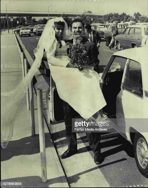 Ali El Gohary of Botany met his proxy bride Mona 22 who flew in from Egypt today wearing her bridal dressThe couple were married April last by...