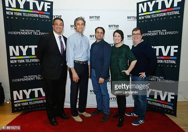 Ali Farahnakian David Pasquesi Ed Herbstman Annie Donley and Terence Gray attend PortaPilots during the12th Annual New York Television Festival at...