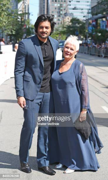 Ali Fazal and Judi Dench attend the 'Victoria Abdul' premiere during the 2017 Toronto International Film Festival at Princess of Wales Theatre on...