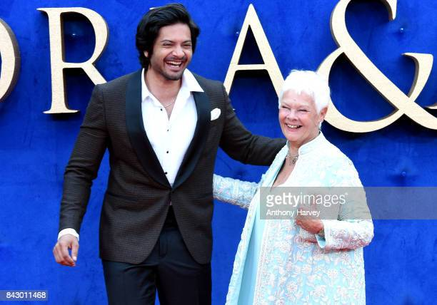 Ali Fazal and Judi Dench attend the Victoria Abdul UK premiere held at Odeon Leicester Square on September 5 2017 in London England