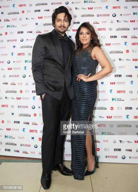 Ali Fazal and Richa Chadda attend the Westpac IFFM Awards Night 2018 at The Palais Theatre on August 12 2018 in Melbourne Australia