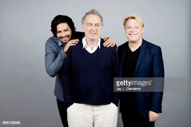 Ali Fazal director Stephen Frears and Eddie Izzard from the film Victoria Abdul poses for a portrait at the 2017 Toronto International Film Festival...