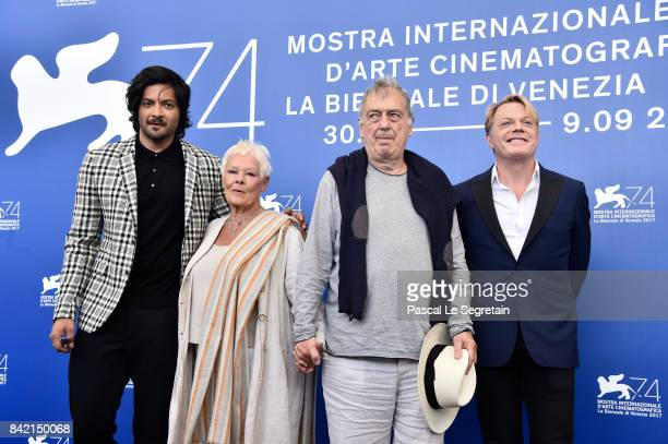 Ali Fazal Judi Dench Stephen Frears and Eddie Izzard attend the 'Victoria Abdul And JaegerLeCoultre Glory To The Filmaker Award 2017' photocall...