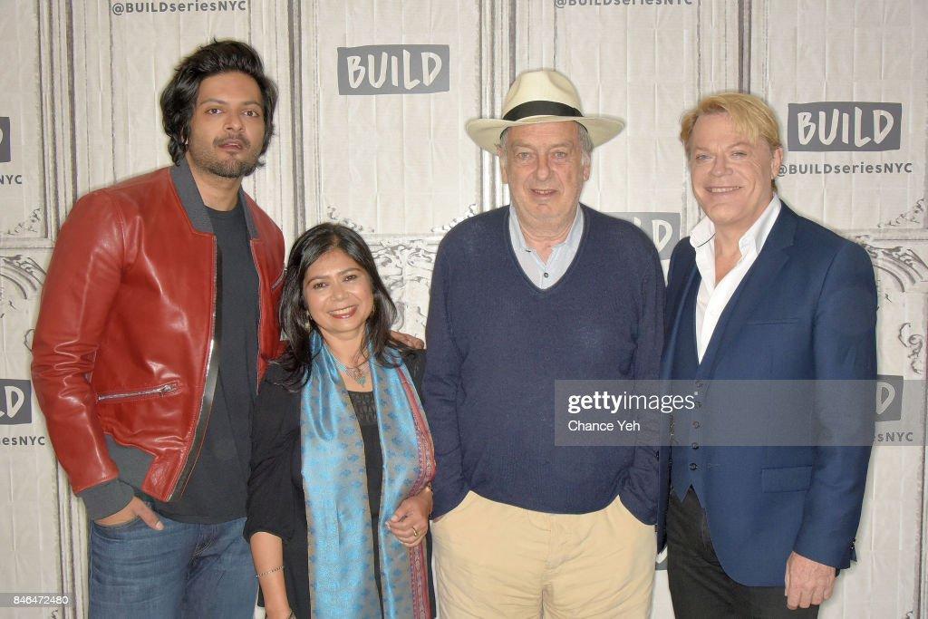 Ali Fazal, Shrabani Basu, Stephen Frears and Eddie Izzard attend Build series to discuss 'Victoria & Abdul' at Build Studio on September 13, 2017 in New York City.
