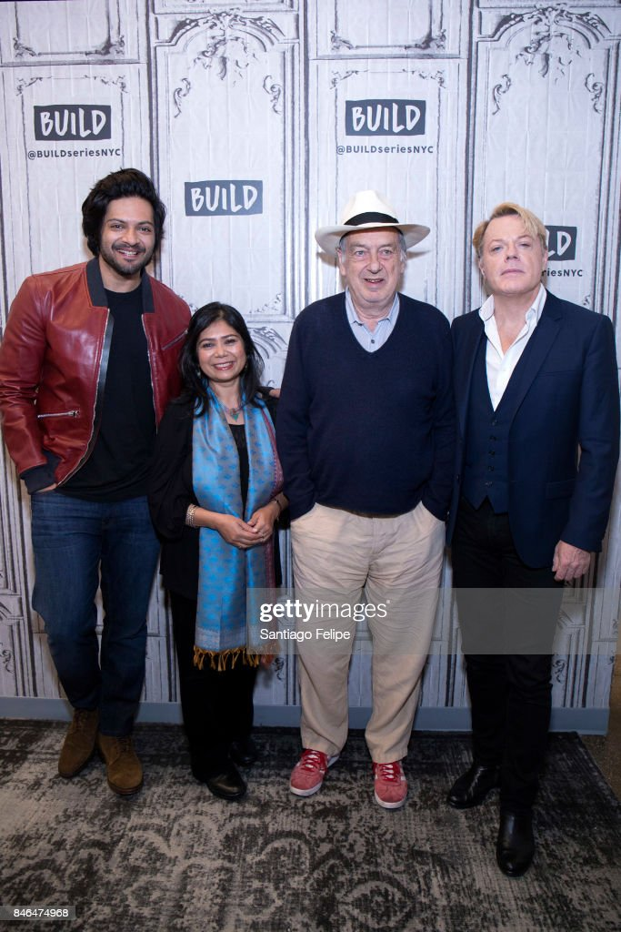 Ali Fazal, Shrabani Basu, Stephen Frears and Eddie Izzard attend Build Presents to discuss the film 'Victoria & Abdul' at Build Studio on September 13, 2017 in New York City.