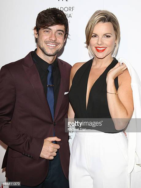 Ali Fedotowsky and Kevin Manno arrive at The Beverly Hilton celebrates 60 Years with a Diamond Anniversary Party held on August 21 2015 in Beverly...