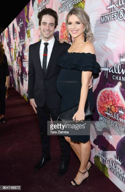 Ali Fedotowsky and Kevin Manno attend Hallmark Channel and Hallmark Movies and Mysteries Winter 2018 TCA Press Tour at Tournament House on January 13...