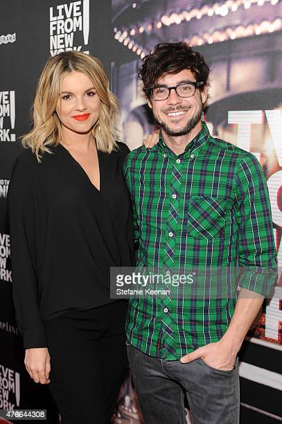 Ali Fedotowsky and Kevin Manno attend the Live From New York Los Angeles premiere at Landmark Theatre on June 10 2015 in Los Angeles California