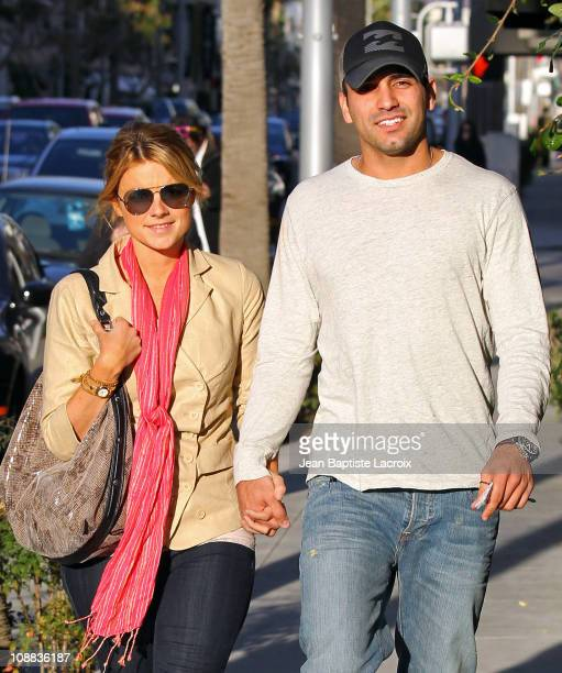 Ali Fedotowsky and Roberto Martinez visit Gavert Atelier in Beverly Hills on February 4 2011 in Los Angeles California