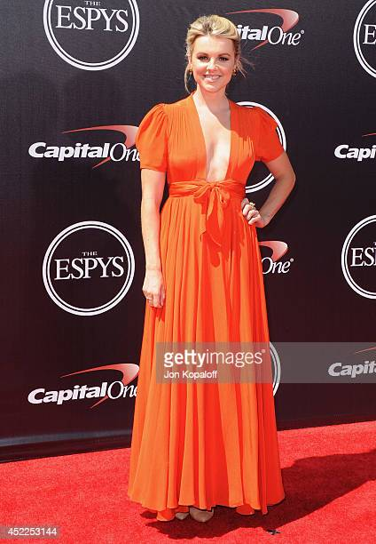 Ali Fedotowsky arrives at the 2014 ESPYS at Nokia Theatre LA Live on July 16 2014 in Los Angeles California