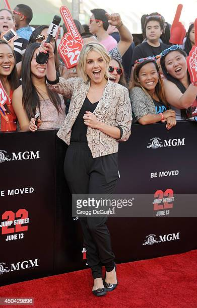 Ali Fedotowsky arrives at the Los Angeles premiere of 22 Jump Street at Regency Village Theatre on June 10 2014 in Westwood California