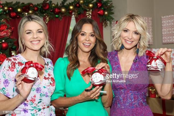 """Ali Fedotowsky, Brooke Burke and Debbie Matenopoulos on the set of Hallmark's """"Home & Family"""" at Universal Studios Hollywood on July 09, 2019 in..."""