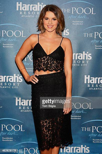 Ali Fedotowsky hosts at The Pool After Dark at Harrah's Resort on January 31 2015 in Atlantic City New Jersey