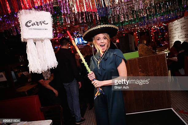 Ali Fedotowsky hosts the Curve Fragrances For Men TriviaNYC game night at Tortilla Flats NYC on December 3 2015 in New York City