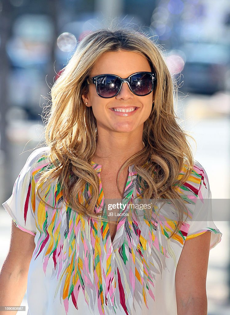 Ali Fedotowsky is seen filmming at Blushington Makeup & Beauty Lounge on January 7, 2013 in Los Angeles, California.
