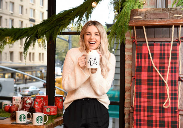 NY: Ali Fedotowsky-Manno Kicked Off The Holiday Season Early With Her Favorite At-Home Starbucks Coffee Recipes In NYC On October 17, 2019